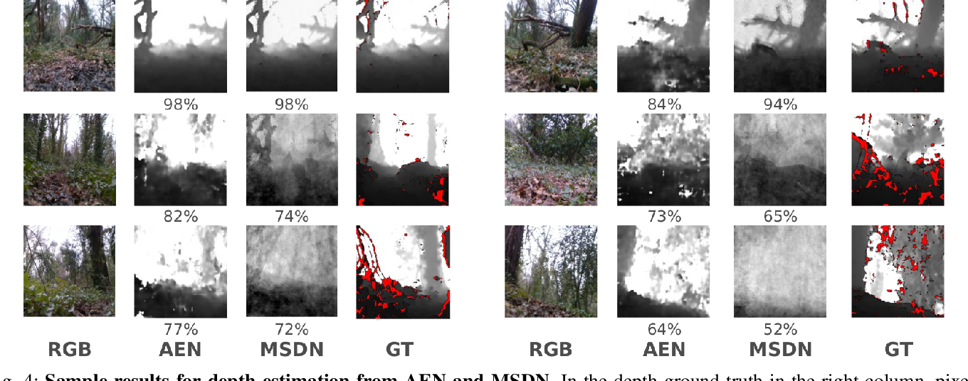 Figure 4 for Depth estimation on embedded computers for robot swarms in forest