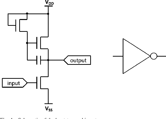 Fig. 4. Schematic of the bootstrapped inverter.