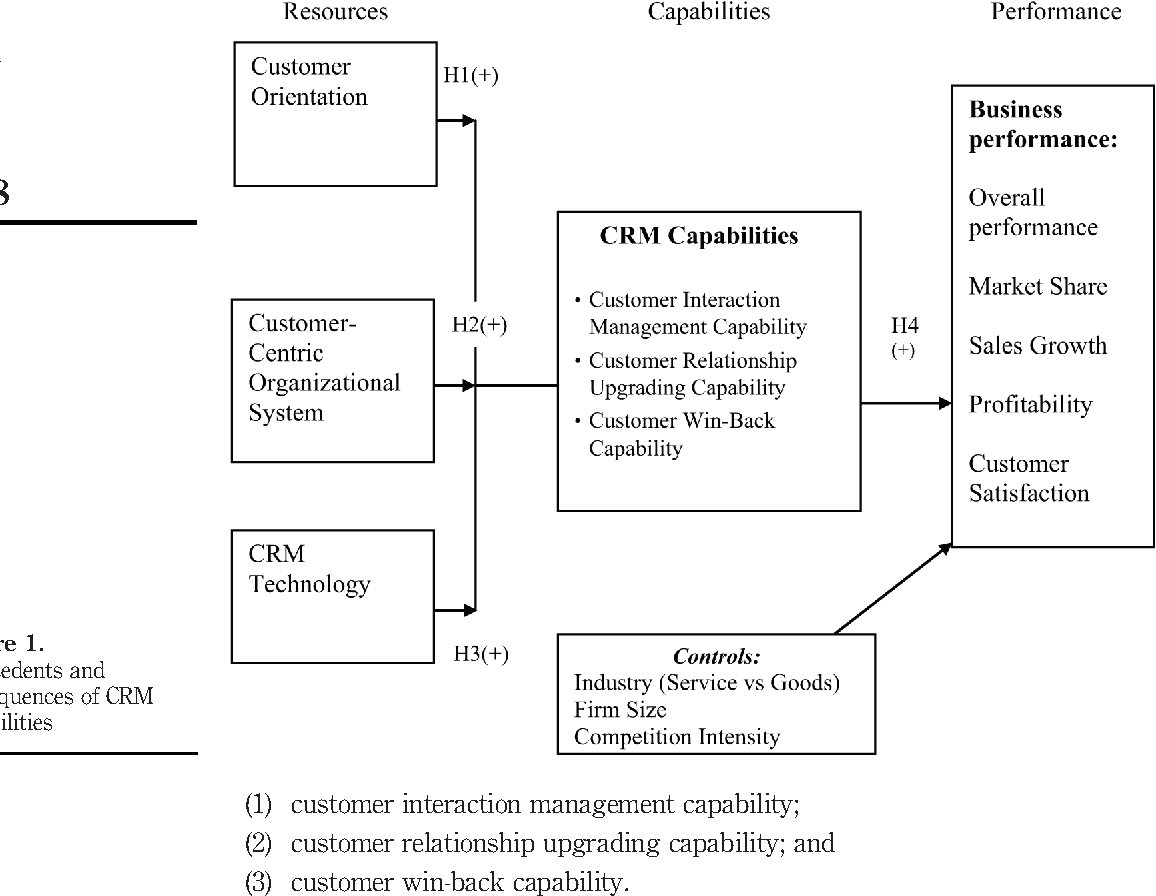 crm capability Customer relationship management capabilities Measurement ...
