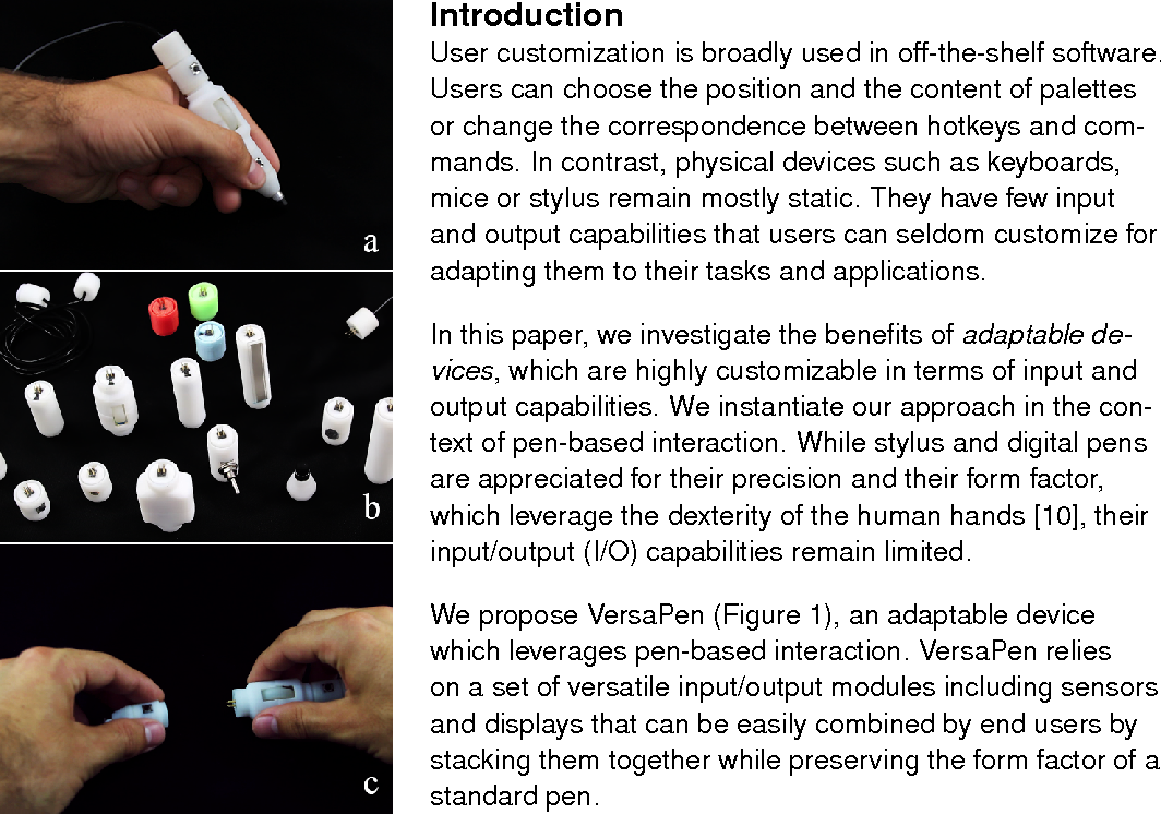 Versapen An Adaptable Modular And Multimodal I O Pen Semantic The Sensors Used Came Out Of Shelf But Adaptation Was Needed Scholar