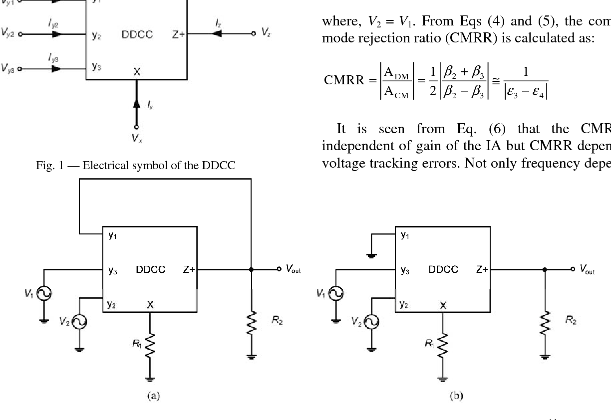 Novel Instrumentation Amplifier And Integrator Circuits Using Single Figure 2 Circuit Diagram For A Singlesupply Op Amp Ddcc Only Grounded Passive Elements Semantic Scholar