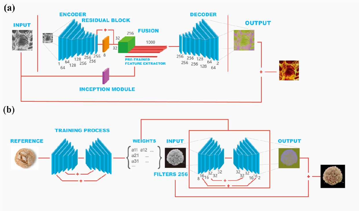 Figure 1 for Nanoscale Microscopy Images Colourisation Using Neural Networks
