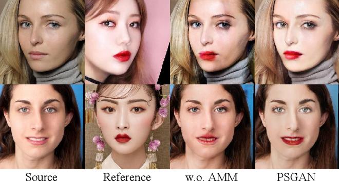Figure 3 for PSGAN: Pose-Robust Spatial-Aware GAN for Customizable Makeup Transfer