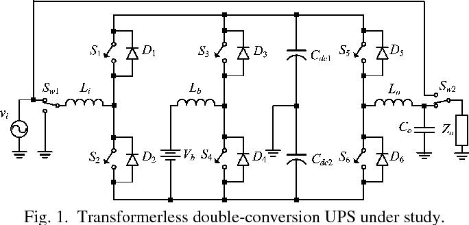 Transformerless doubleconversion UPS using a regenerative snubber