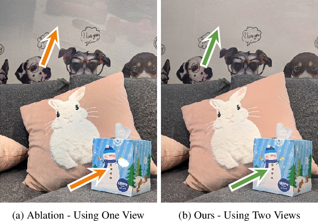 Figure 2 for Learned Dual-View Reflection Removal