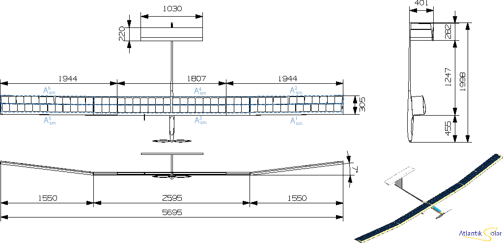 Figure 1 for High-Fidelity Solar Power Income Modeling for Solar-Electric UAVs: Development and Flight Test Based Verification