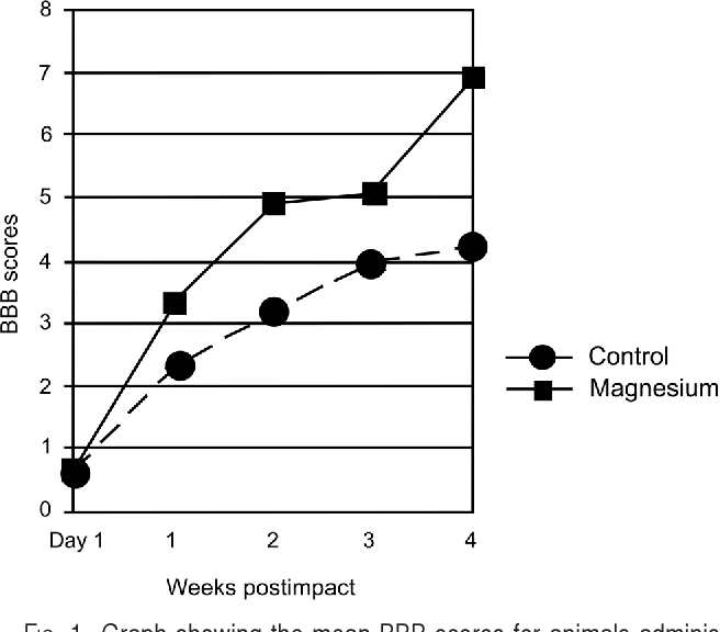 Magnesium Efficacy In A Rat Spinal Cord Injury Model Semantic Scholar