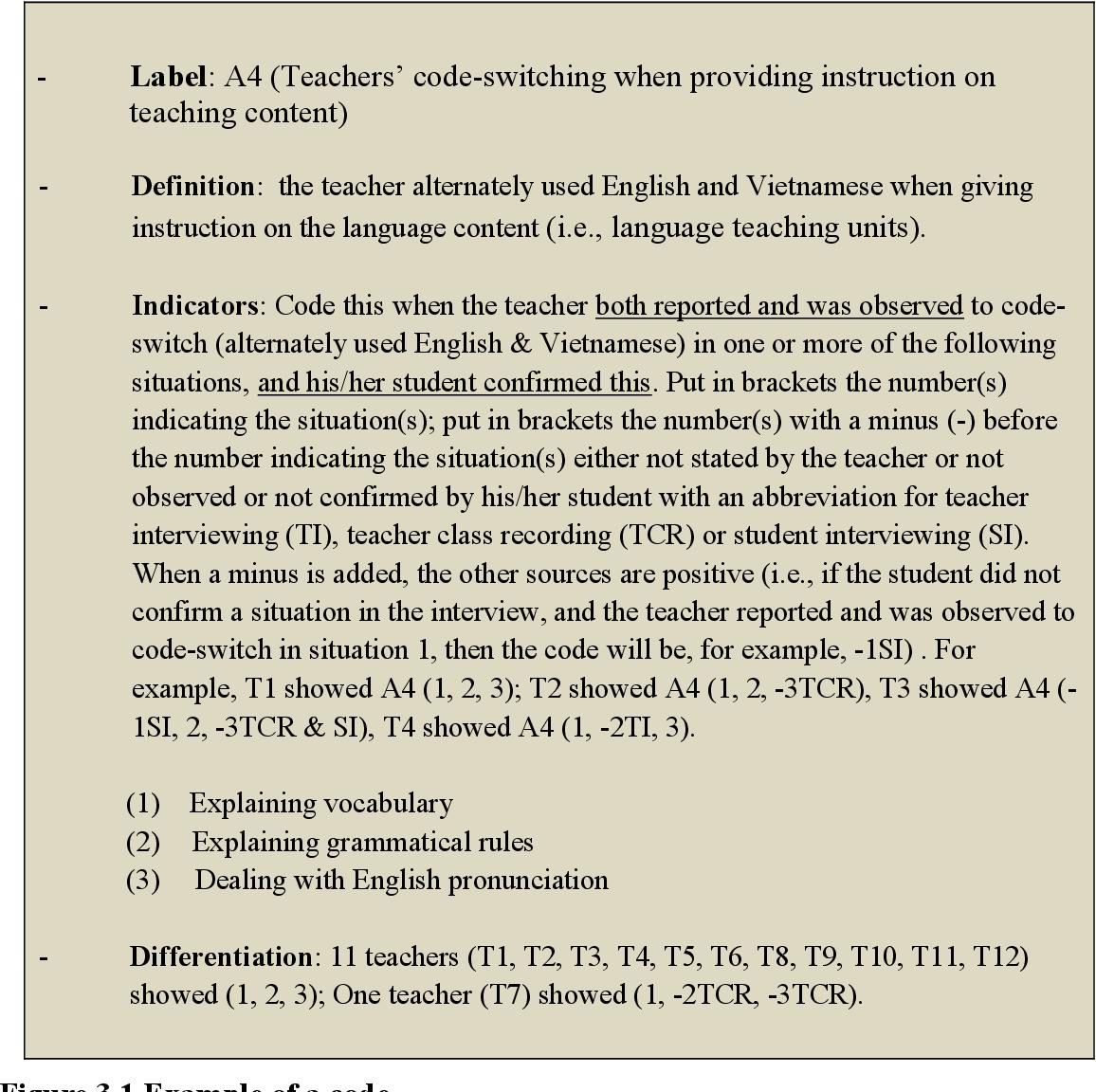 code switching in language teaching