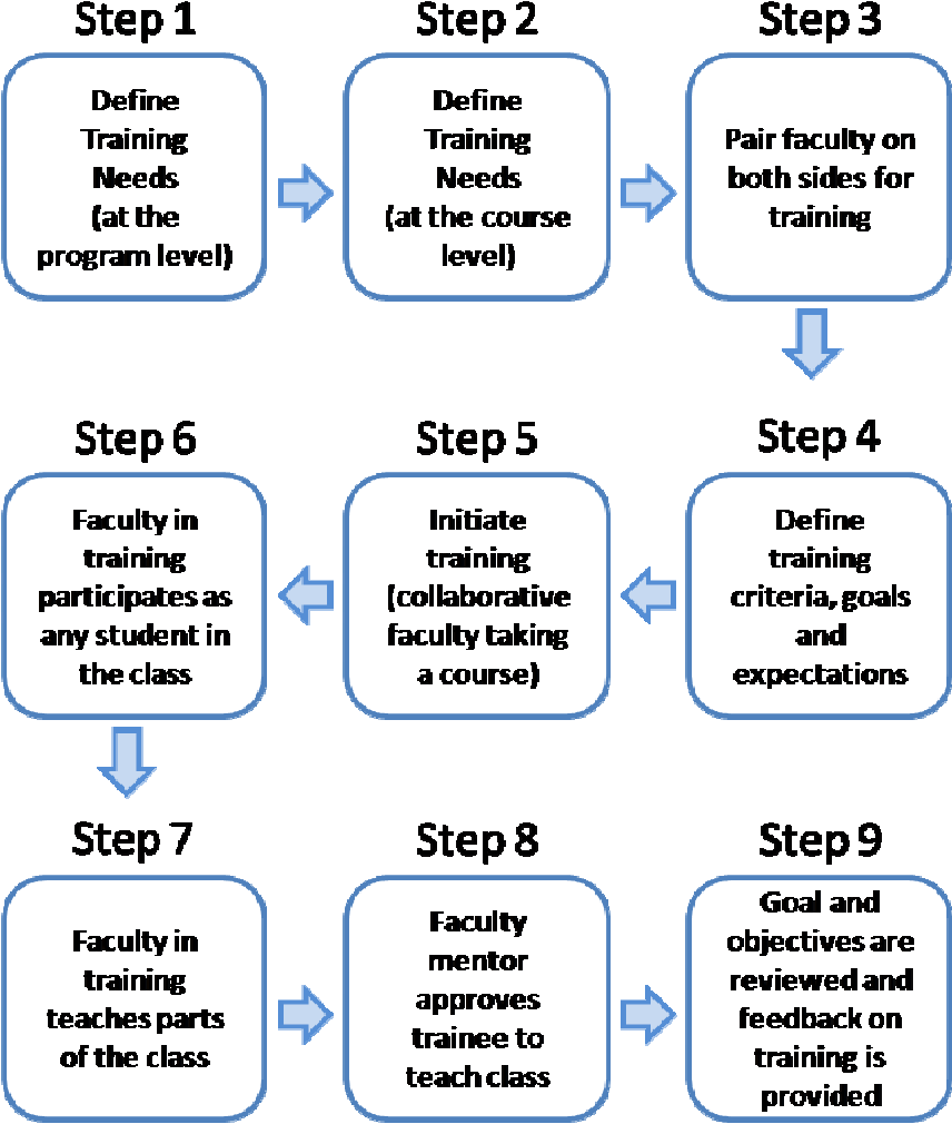 Figure 1: A Process for Faculty Training – Graphical View