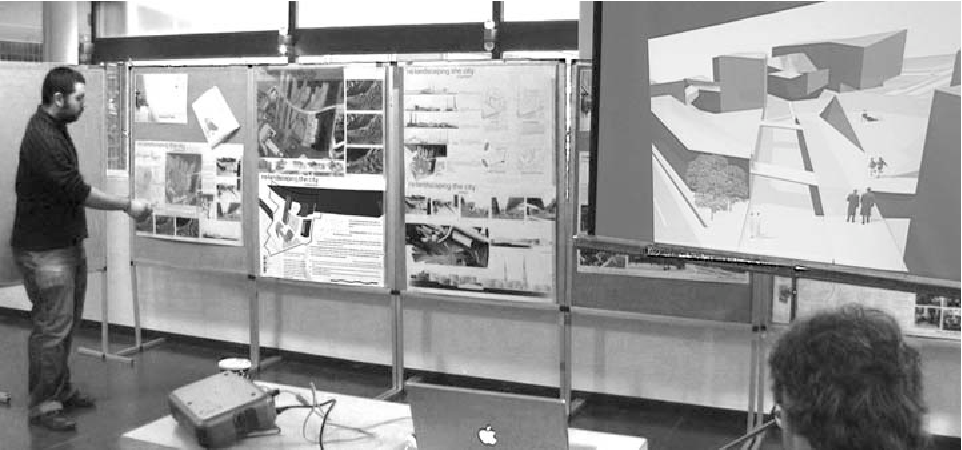 Fig. 8 Rico, presenting with poster and screen