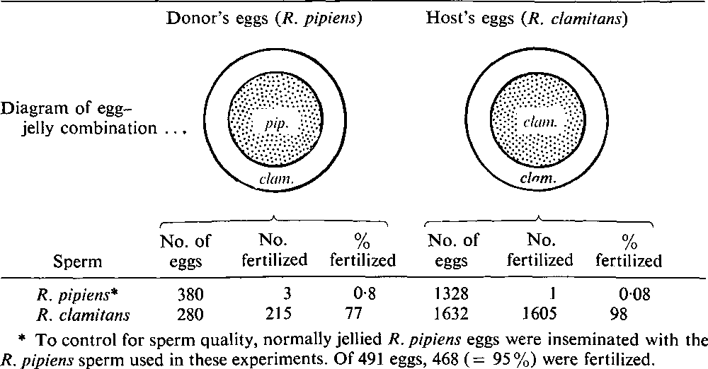 A Block To Cross Fertilization Located In The Egg Jelly Of The Frog