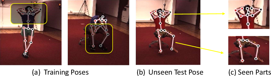 Figure 1 for SRNet: Improving Generalization in 3D Human Pose Estimation with a Split-and-Recombine Approach