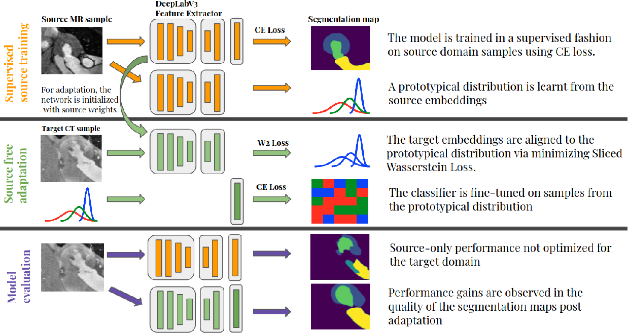 Figure 1 for Privacy Preserving Domain Adaptation for Semantic Segmentation of Medical Images