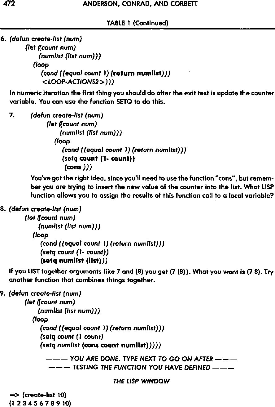 PDF] Skill Acquisition and the LISP Tutor - Semantic Scholar