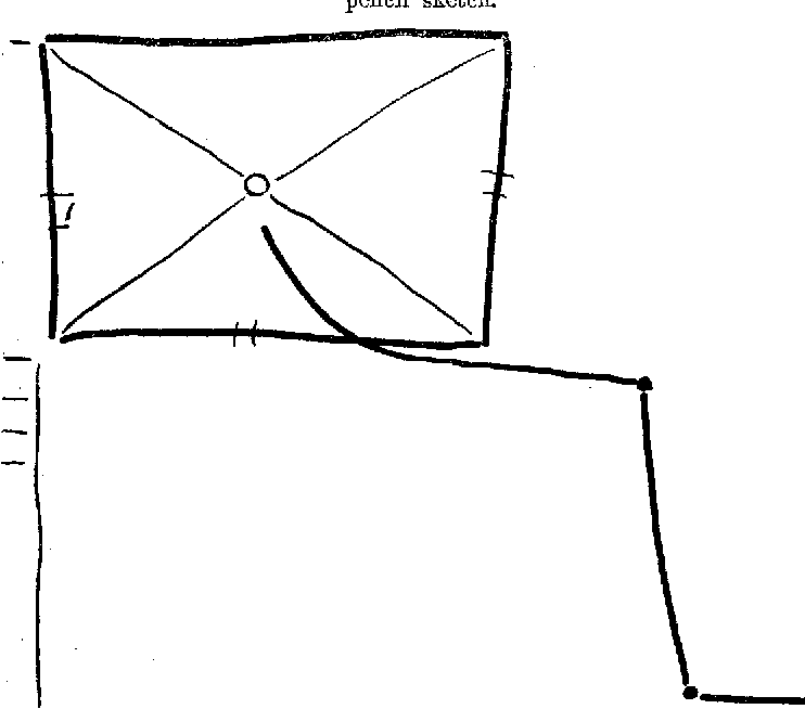 Figure 1. The pat ient 's mother 's room with drainpipe, a tracing of Fred ' s pencil sketch. 431
