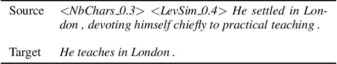 Figure 1 for Controllable Sentence Simplification