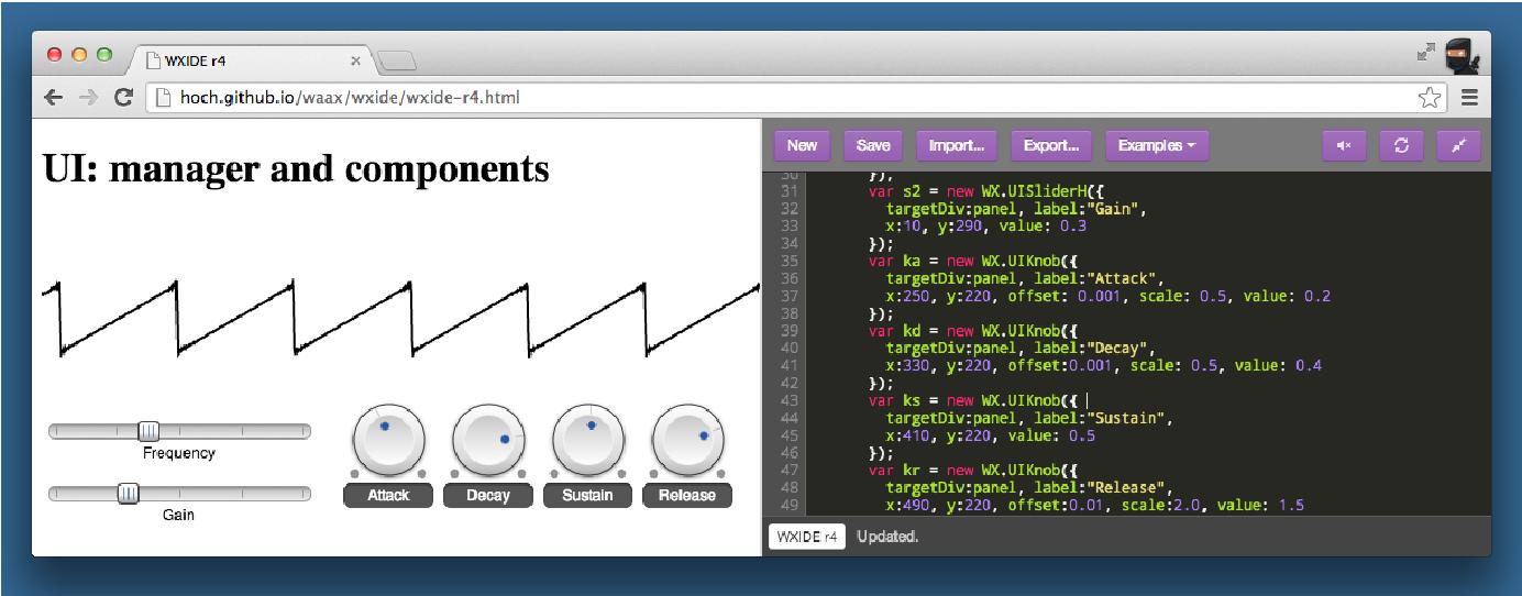 PDF] WAAX: Web Audio API eXtension - Semantic Scholar