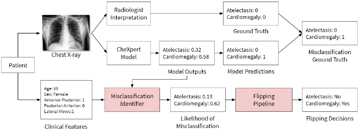 Figure 1 for CheXbreak: Misclassification Identification for Deep Learning Models Interpreting Chest X-rays