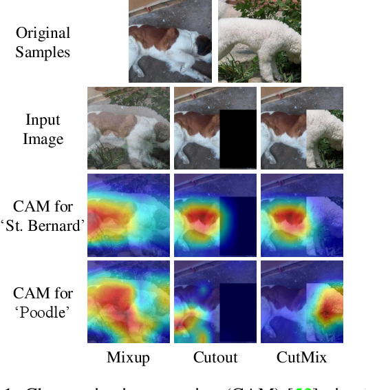 Figure 2 for CutMix: Regularization Strategy to Train Strong Classifiers with Localizable Features