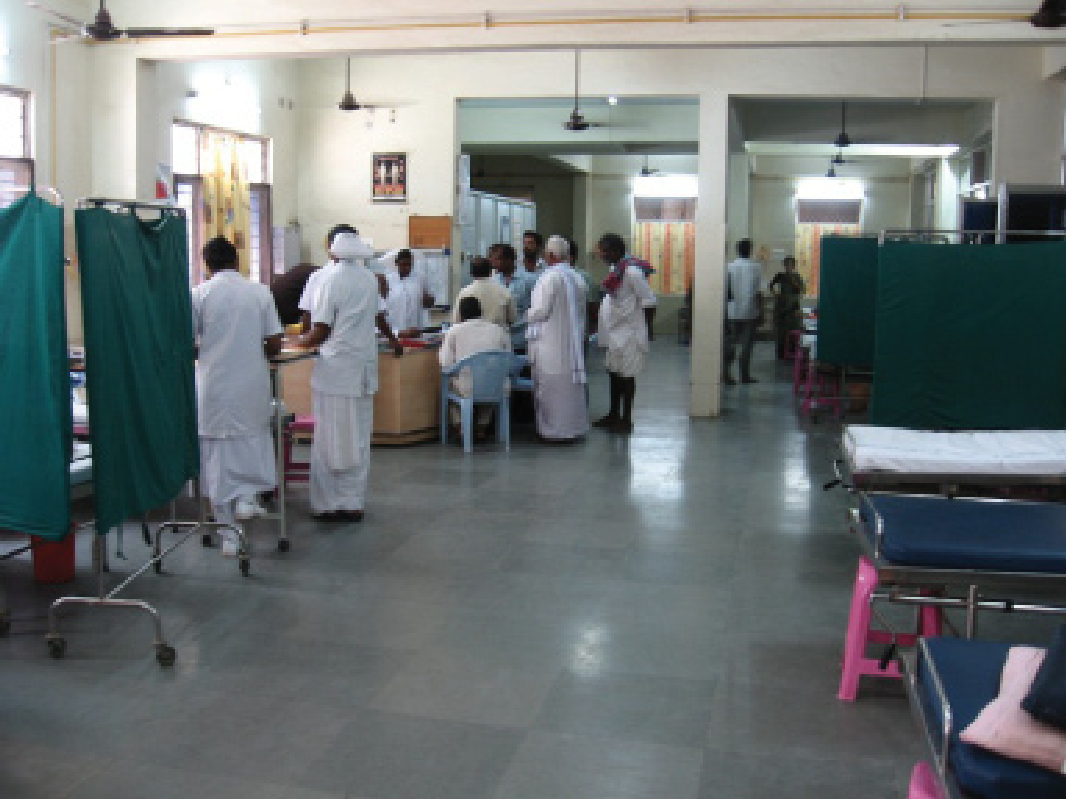 Figure 2: Casualty Ward (Emergency Department). The nurses work with the doctors and the incoming patients in the casualty ward of the hospital.