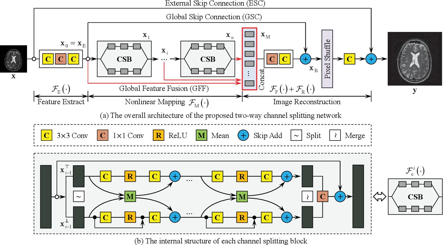 Figure 3 for Channel Splitting Network for Single MR Image Super-Resolution