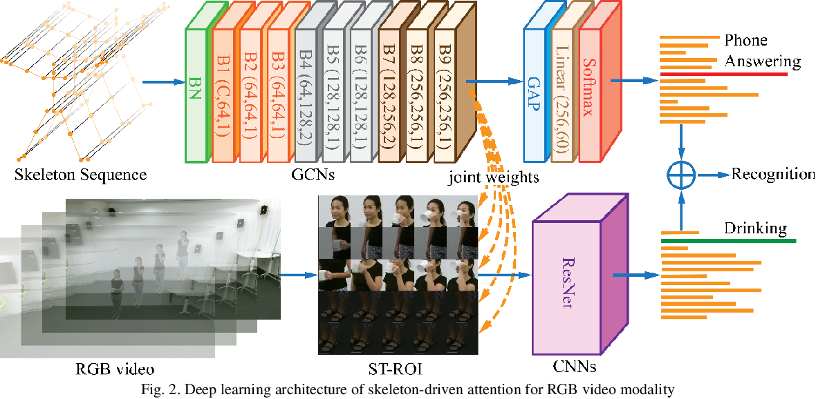 Figure 2 for Skeleton Focused Human Activity Recognition in RGB Video