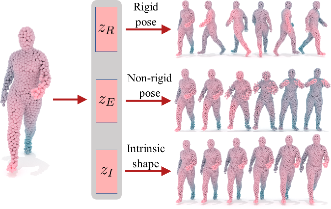 Figure 1 for Disentangling Geometric Deformation Spaces in Generative Latent Shape Models