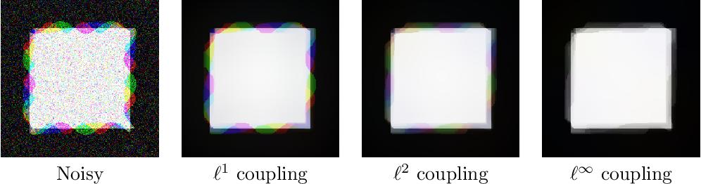 Figure 1 for Collaborative Total Variation: A General Framework for Vectorial TV Models