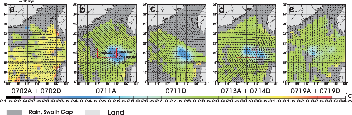 Figure 1 from Satellite observations of modulation of surface winds