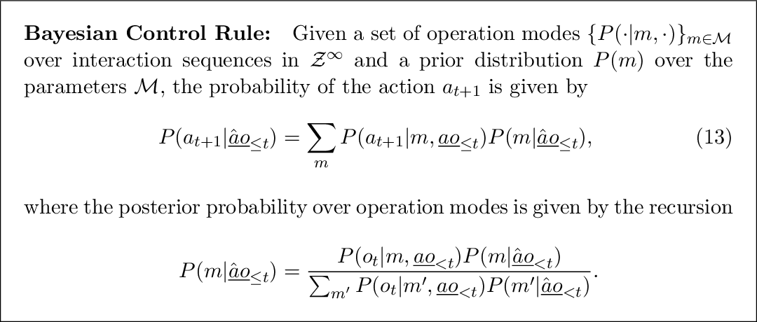 Figure 2 for A Minimum Relative Entropy Principle for Learning and Acting