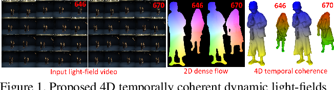 Figure 1 for 4D Temporally Coherent Light-field Video