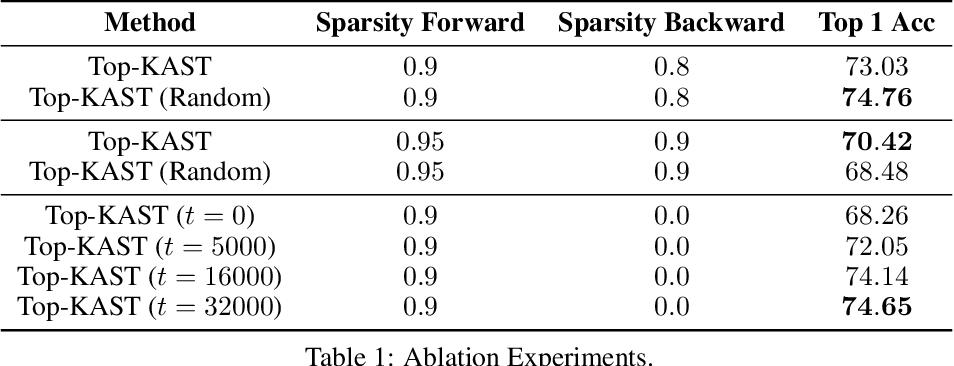 Figure 2 for Top-KAST: Top-K Always Sparse Training