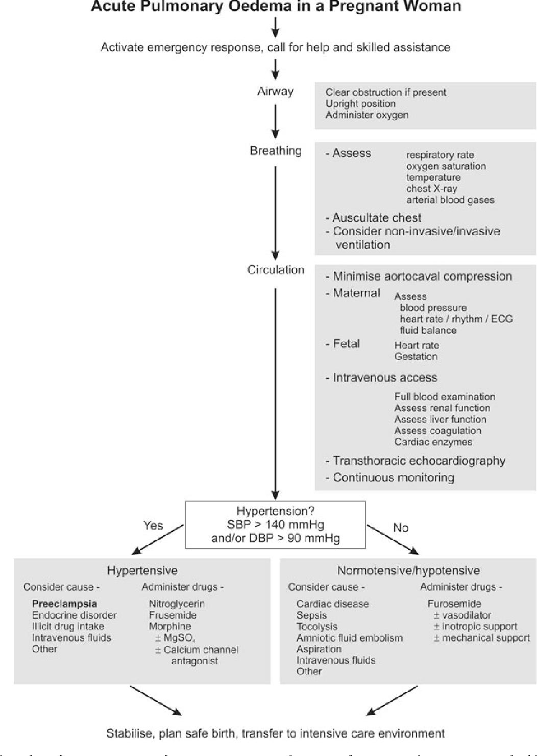 Figure 3 From Acute Pulmonary Oedema In Pregnant Women Semantic