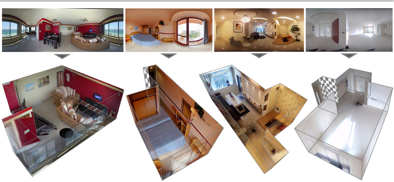 Figure 1 for 3D Manhattan Room Layout Reconstruction from a Single 360 Image