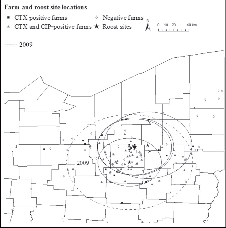 Spatial Clustering Of Escherichia Coli With Reduced Susceptibility