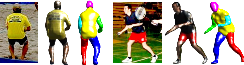 Figure 1 for BodyNet: Volumetric Inference of 3D Human Body Shapes