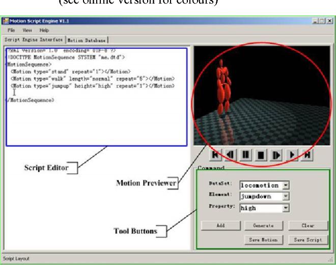 A script engine for realistic human motion generation - Semantic Scholar