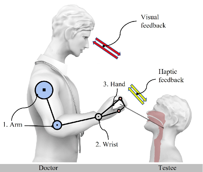 Figure 1 for Tele-Operated Oropharyngeal Swab (TOOS) RobotEnabled by TSS Soft Hand for Safe and EffectiveCOVID-19 OP Sampling