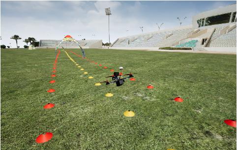 Figure 1 for Teaching UAVs to Race Using Sim4CV