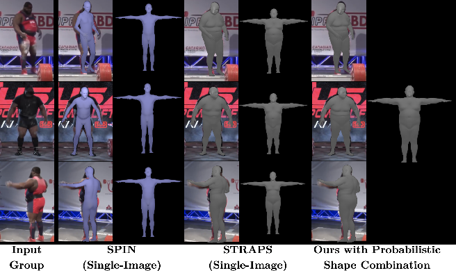 Figure 1 for Probabilistic 3D Human Shape and Pose Estimation from Multiple Unconstrained Images in the Wild
