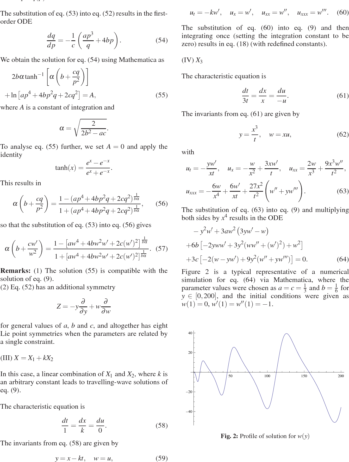 Shock-Waves and other Solutions to the Sharma- Tasso-Olver Equation