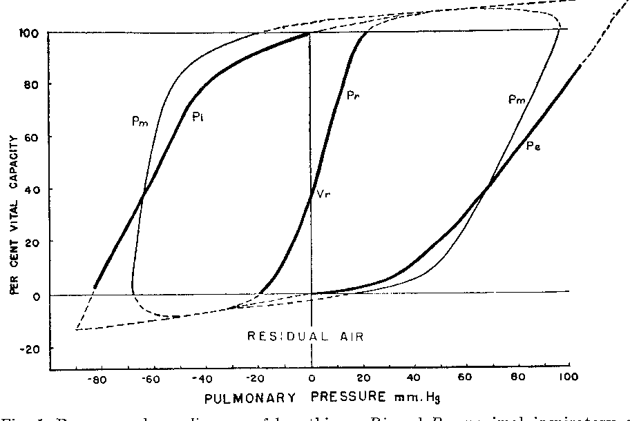 The Pressure Volume Diagram Of The Thorax And Lung Semantic Scholar