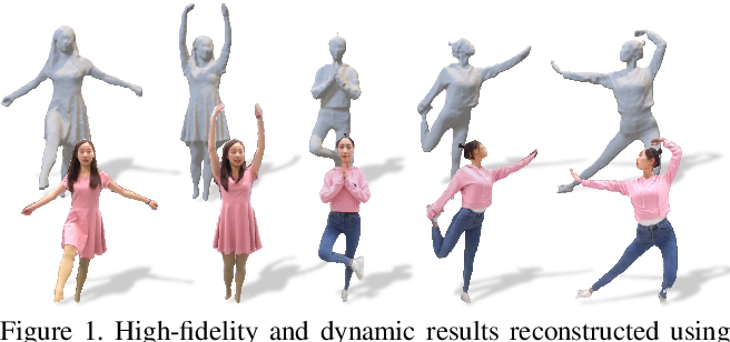 Figure 1 for POSEFusion: Pose-guided Selective Fusion for Single-view Human Volumetric Capture