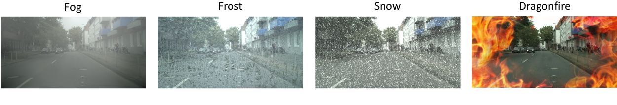 Figure 3 for Benchmarking Robustness in Object Detection: Autonomous Driving when Winter is Coming