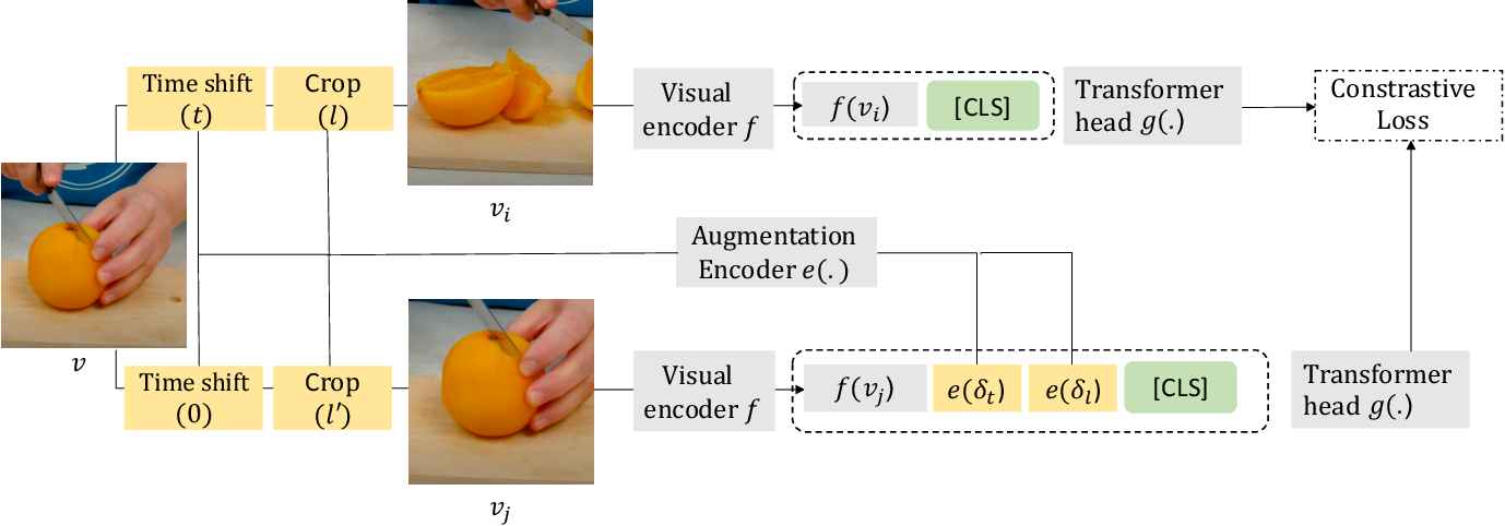 Figure 3 for Composable Augmentation Encoding for Video Representation Learning