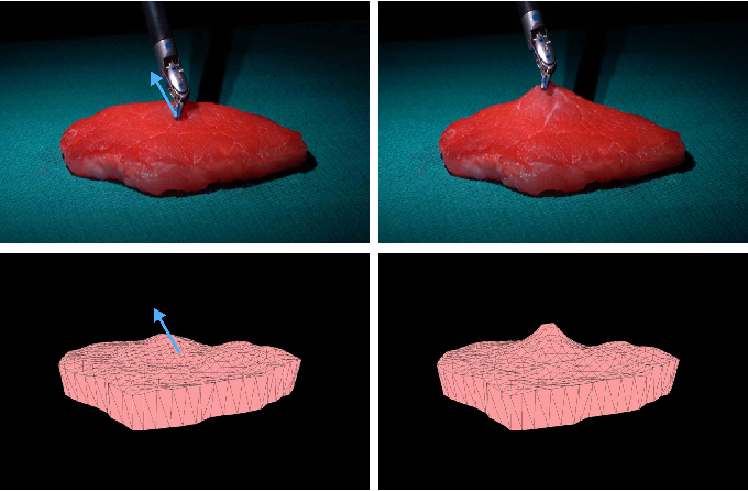 Figure 1 for Real-to-Sim Registration of Deformable Soft Tissue with Position-Based Dynamics for Surgical Robot Autonomy