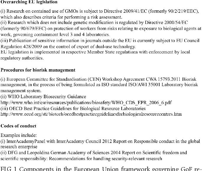 European Academies Advise on Gain-of-Function Studies in