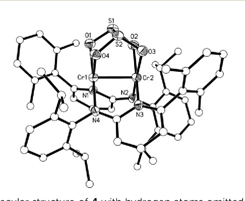 Figure 3 From Co2 And So2 Activation By A Cr Cr Quintuple Bond