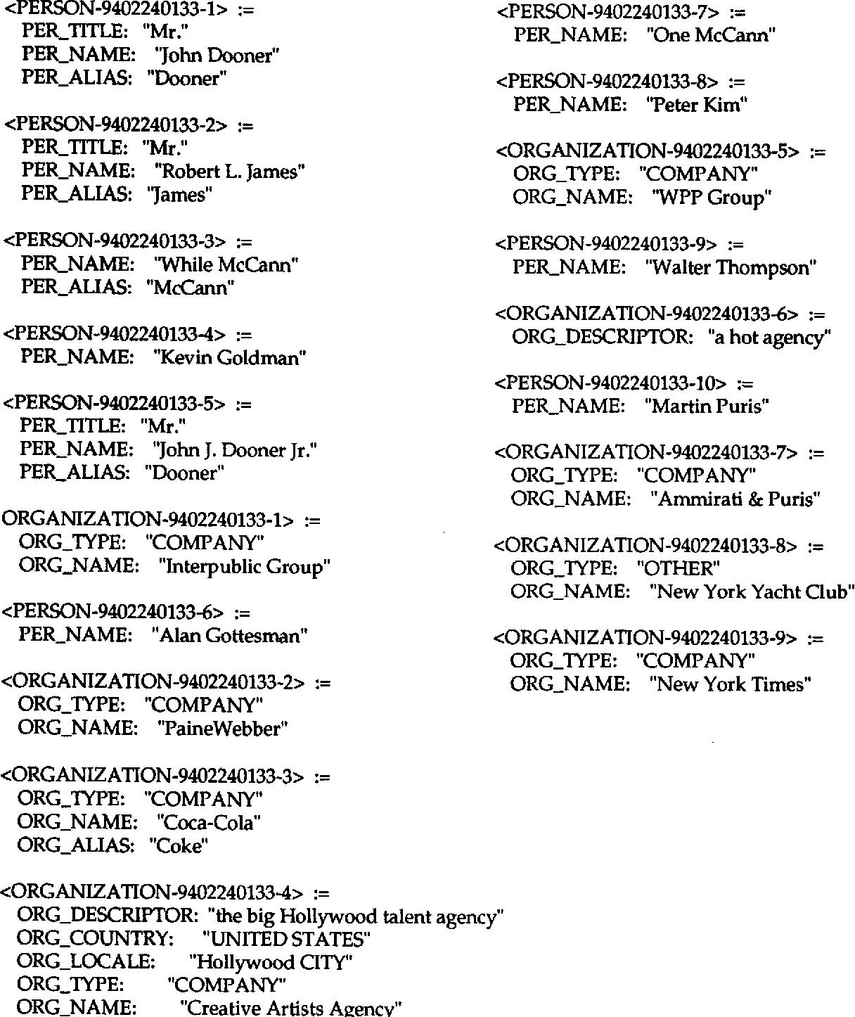 PDF] Sterling software: an NLToolset-based system for MUC-6