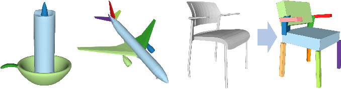 Figure 3 for SEG-MAT: 3D Shape Segmentation Using Medial Axis Transform